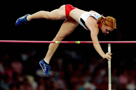 Olympian Stephanie McCann - Olypmc Pole Vaulter in Action Athens 2004 #2