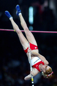 Olympian Stephanie McCann - Olypmc Pole Vaulter in Action Athens 2004 #1